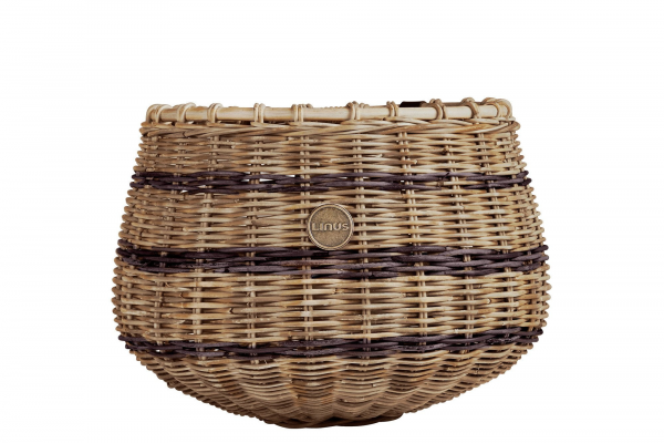 Linus Dakota Basket Natural Brown Stripes