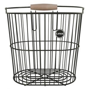 Linus Rear Wire Basket Black
