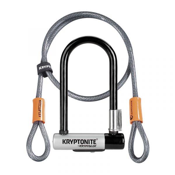 Kryptonite Kryptolok Mini-7 + 4′ Flex Cable