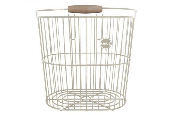 Linus Rear Wire Basket Cream
