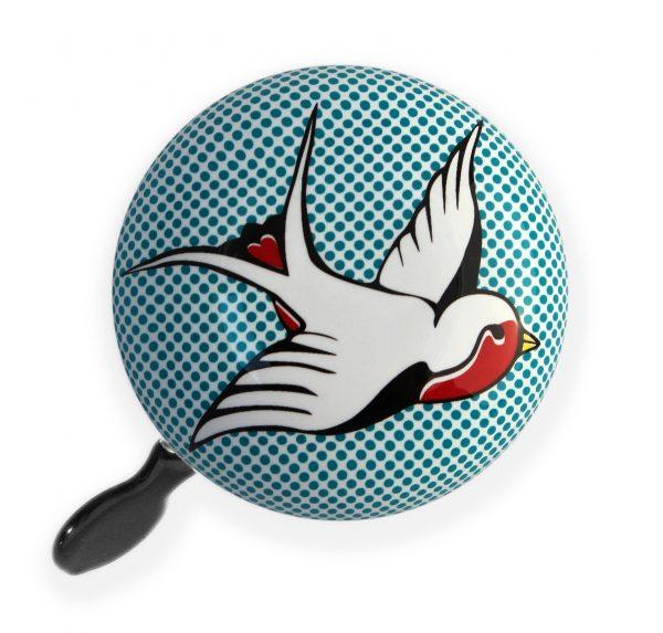 Luvelo Ding Dong Bike Bell Bird Tattoo